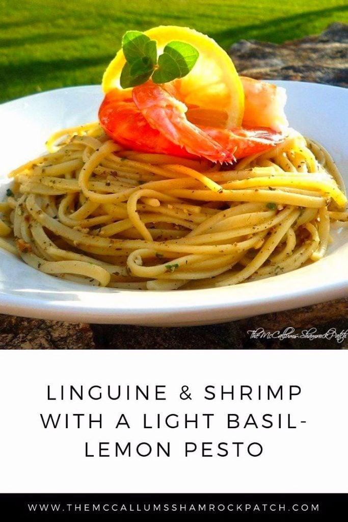 Linguine and Shrimp Pesto
