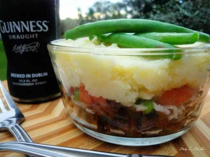 Single Serving Shepherds Pie is simple and easy to follow while keeping true to its Irish background. Delicious ground lamb, Dubliner Cheddar Mash, carrots, green peas, and the perfect seasoning that makes an ideal comfort food for your family to enjoy. Shepherd's Pie is a type of savory pie with minced meat and mashed potato on top.