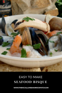 You'll love this simple to make, rich, creamy Seafood Bisque; the warm, enticing taste is perfect for a hearty lunch or light dinner; combining seafood favorites such as shrimp, crab, mussels, and bottleneck clams with a rich deliciously creamy base that's perfectly seasoned.