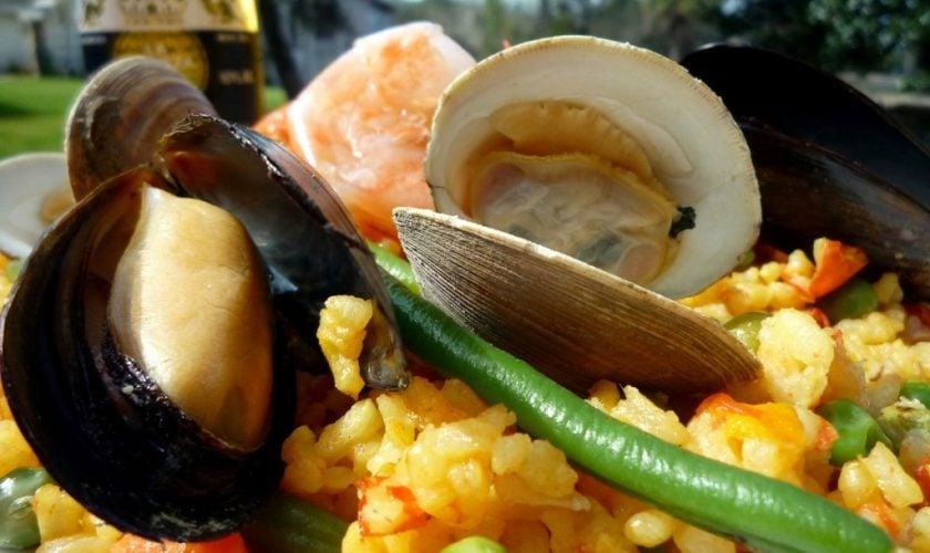 Cuban Seafood Paella