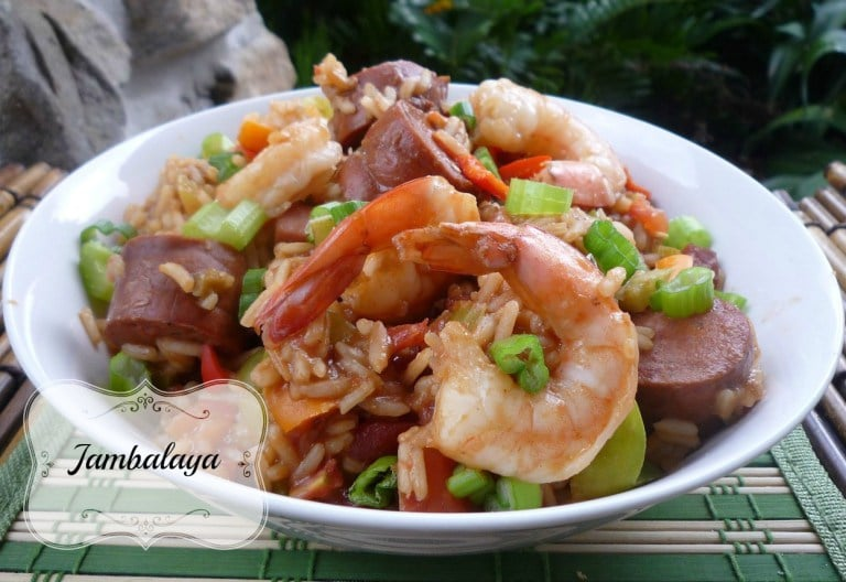 "This amazing recipe for ""Easy Jambalaya"" is so Flavorful, simple, and easy it's almost seriously ridiculous. It's not the 100% traditional recipe for Jambalaya standards by far. I combine ALL the traditional ingredients you love and a few more. This comes out with a fantastic thick spicy sauce that just clings to your rice like you won't believe."