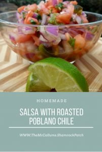 Salsa with roasted poblano chile