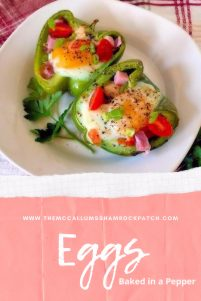 How can you go wrong making this deliciously flavorful Eggs baked in a pepper? You merely clean, half, and remove the seeds of any green bell pepper and fill it with breakfast goodies like ham, potatoes, tomatoes, and sunnyside up eggs—total breakfast bliss with little to no clean-up needed.