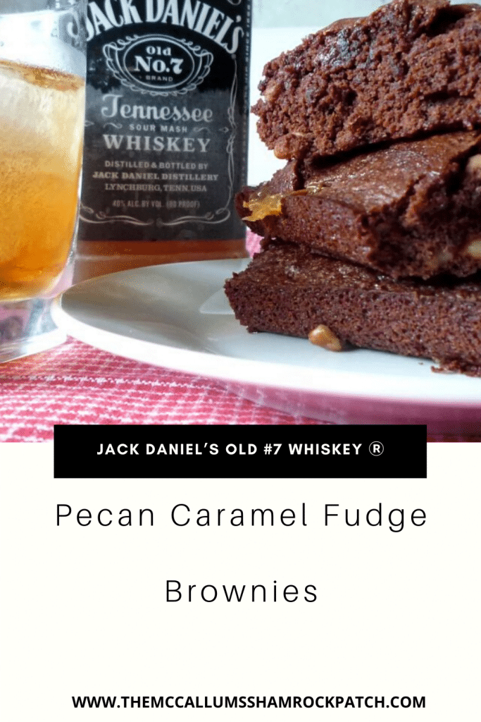 Jack Daniel's Caramel Browniesare rich and fudgybrownies with a hint of Jack Daniel's old #7 whiskey Ⓡ Jack Daniel's Pecan Caramel Fudge Brownies are the quintessential adult dessert. Do these brownies combine pecans, thick caramel, dark chocolate, and one of our favorites adult beverages Jack Daniel's old #7 whiskey Ⓡ What could be more fun and tasty combination for your Adult guests?