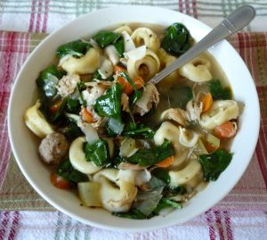 Italian Spinach and Pasta Soup from The McCallum's Shamrock Patch