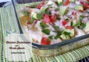 #Chicken #Enchiladas with Verde Sauce