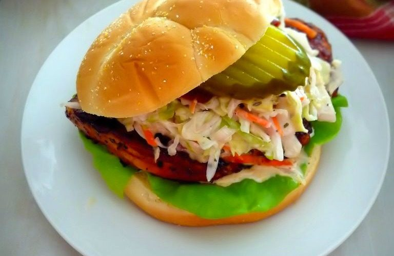 Kansas City Style Bbq Chicken Sandwich