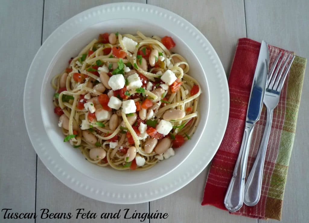 #Tuscan Beans #Feta and Linguine