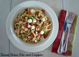 #Tuscan Beans #Feta and Linguine