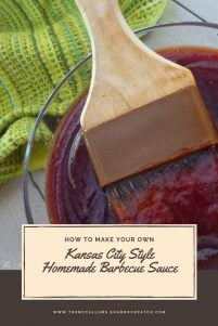 Kansas City Style Homemade Barbecue Sauce