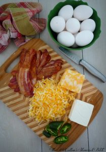 #ingredients #bacon #eggs #cheese #cream cheese