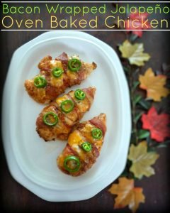 #Bacon wrapped #Jalapeno #ovenbaked #chicken