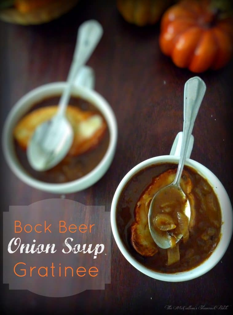 #FrenchOnionSoup #BockBeer #Onion #Soup #Gratinee