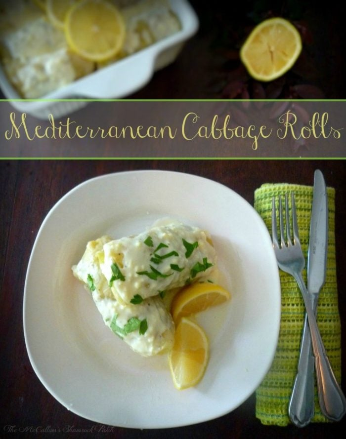 My Greek-inspired Mediterranean Cabbage Rolls- (Lahanodolmathes) are not what I would consider 100% traditional by Greek standards, however, they are completely delicious comfort food made of cabbage, ground lamb, feta cheese, onions, dill, oregano, lemon juice and Greek White Wine with a lavish egg and Lemon Sauce.
