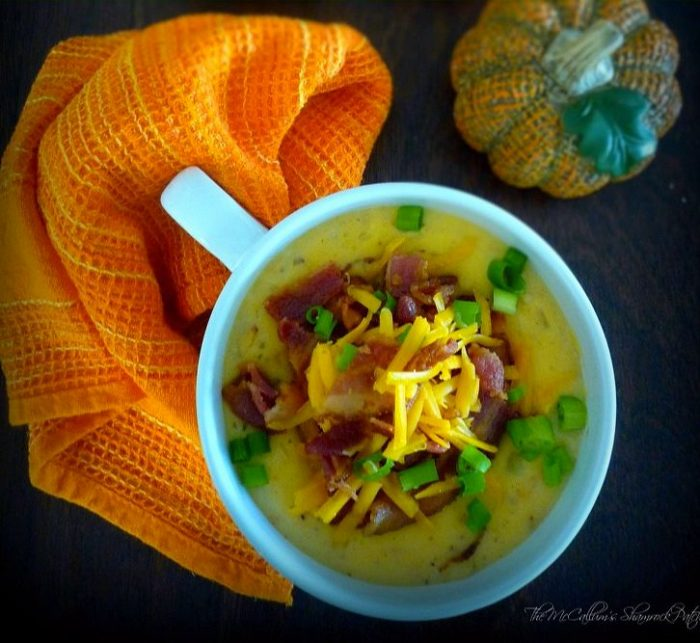 I love a good homemade Potato Soup, this Loaded Baked Potato Soup inspired by our local Kissimmee, Florida, Chili's restaurant goes above and beyond my expectations for a Potato Soup combining potatoes, extra sharp cheddar cheese, sour cream, bacon, and scallions all in a delicious super thick soup.