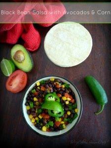 Black Bean #Salsa with #avacados and #corn