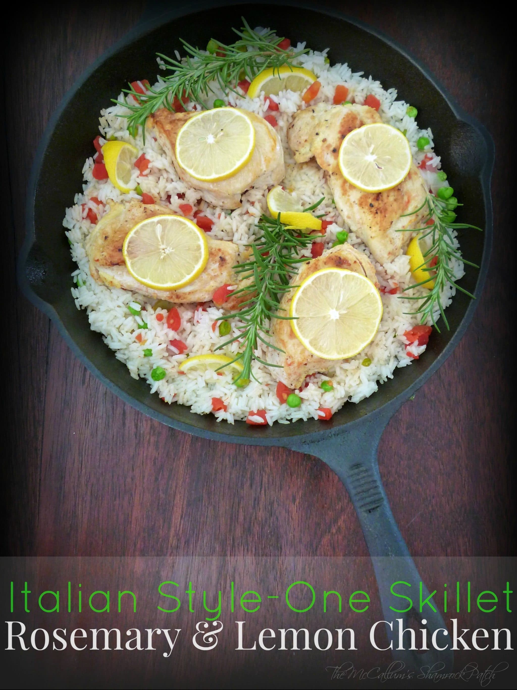 Rosemary & Lemon Chicken SKillet fits the bill for those looking for a new Chicken recipe with a ton of flavor and less mess to clean. A perfect combination of Lemon and Rosemary chicken on a bed of delicious white rice cooked in chicken stock and white wine.