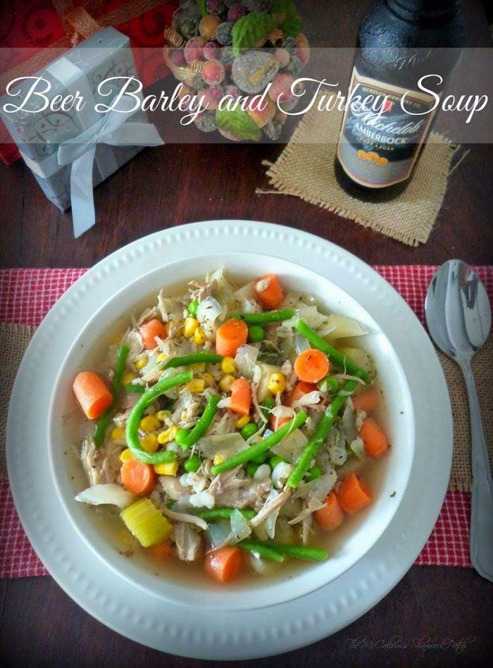 Beer Barley Turkey and Vegetable Soup