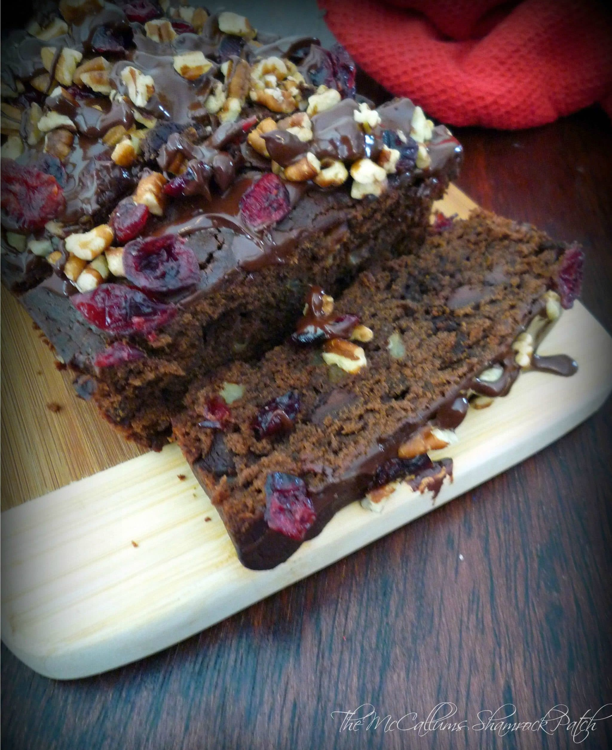 #Chocolate #Cranberry #Pecan Loaf