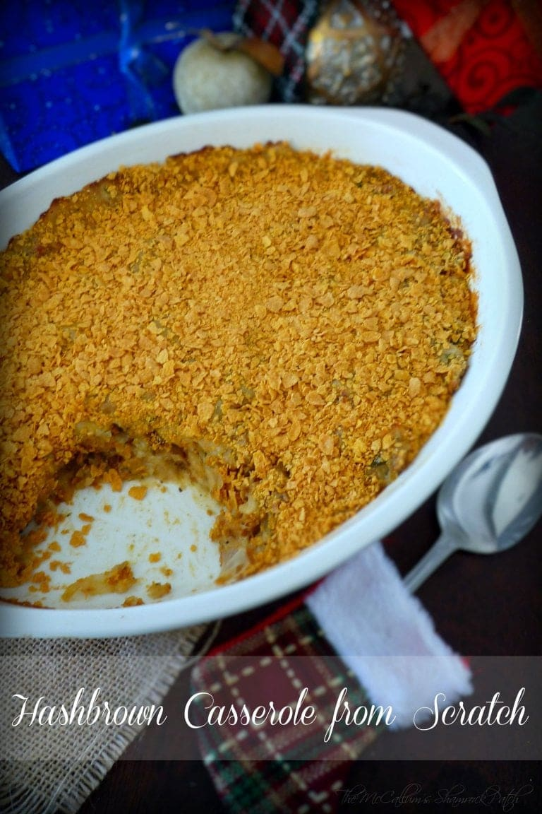 "This Delicious ""Hashbrown Casserole""  is another blast from the past made with fresh all-natural ingredients and no canned goods!"