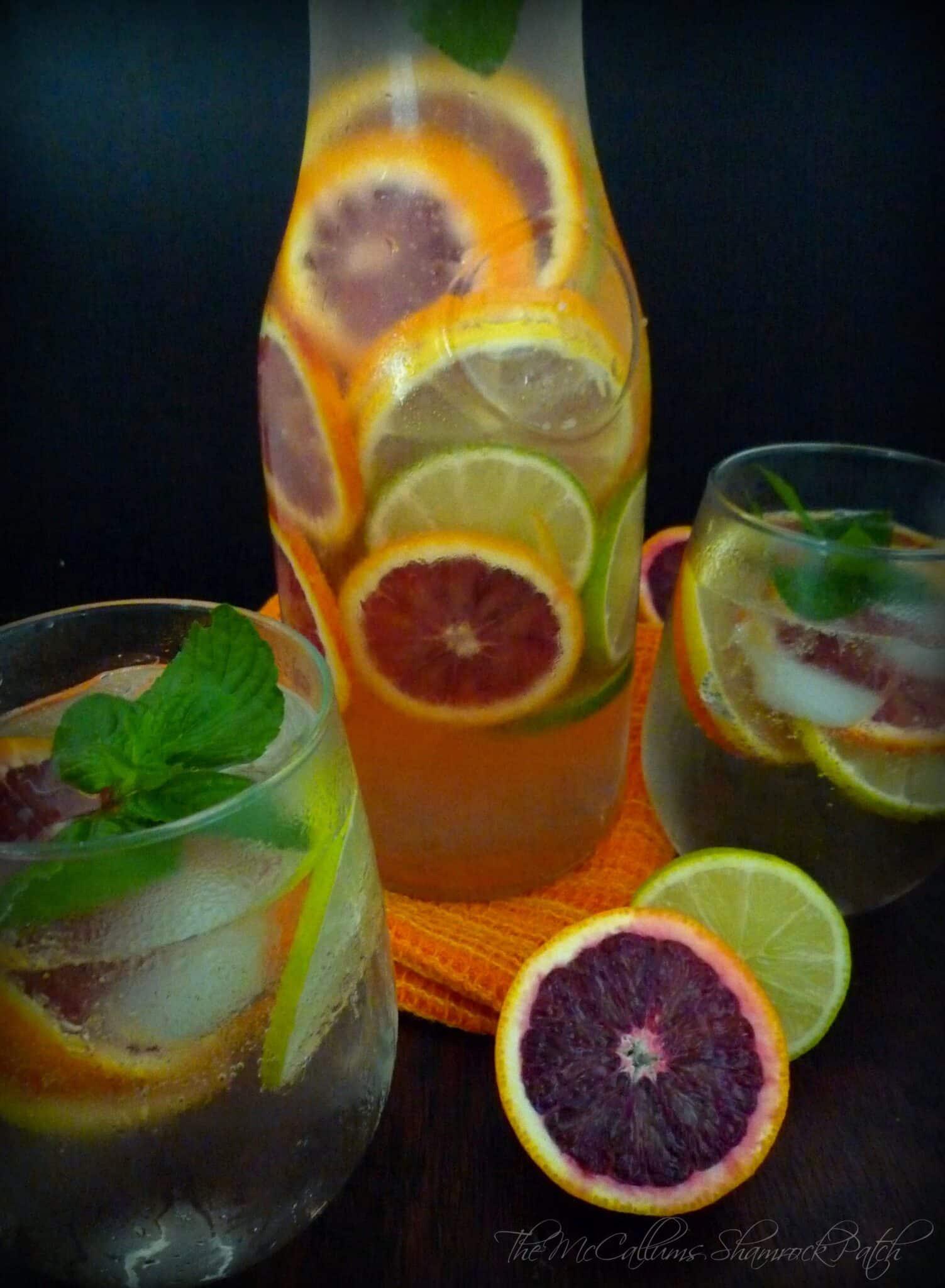 Citrus Sangria featuring Blood Oranges