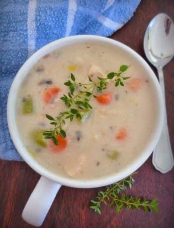 Homemade Creamy Chicken Soup