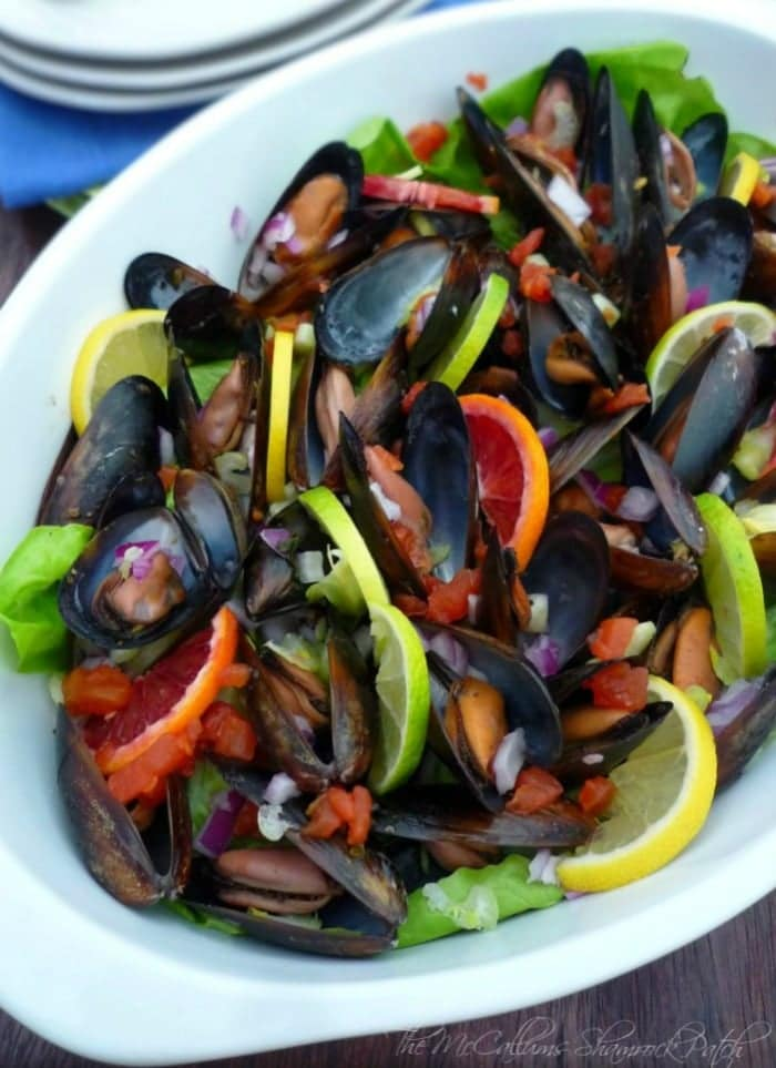 Mussels in Red Wine and Citrus will be the all-time inexpensive show stopper and jaw dropper starter to your meal combining delicious Mussels with Pinot Noir wine, fresh herb, with lemon, lime, and brilliant blood oranges that will not only lend a wonderful flavor but make the recipe for Mussels in Red wine and Citrus stand out to your dinner crowd.
