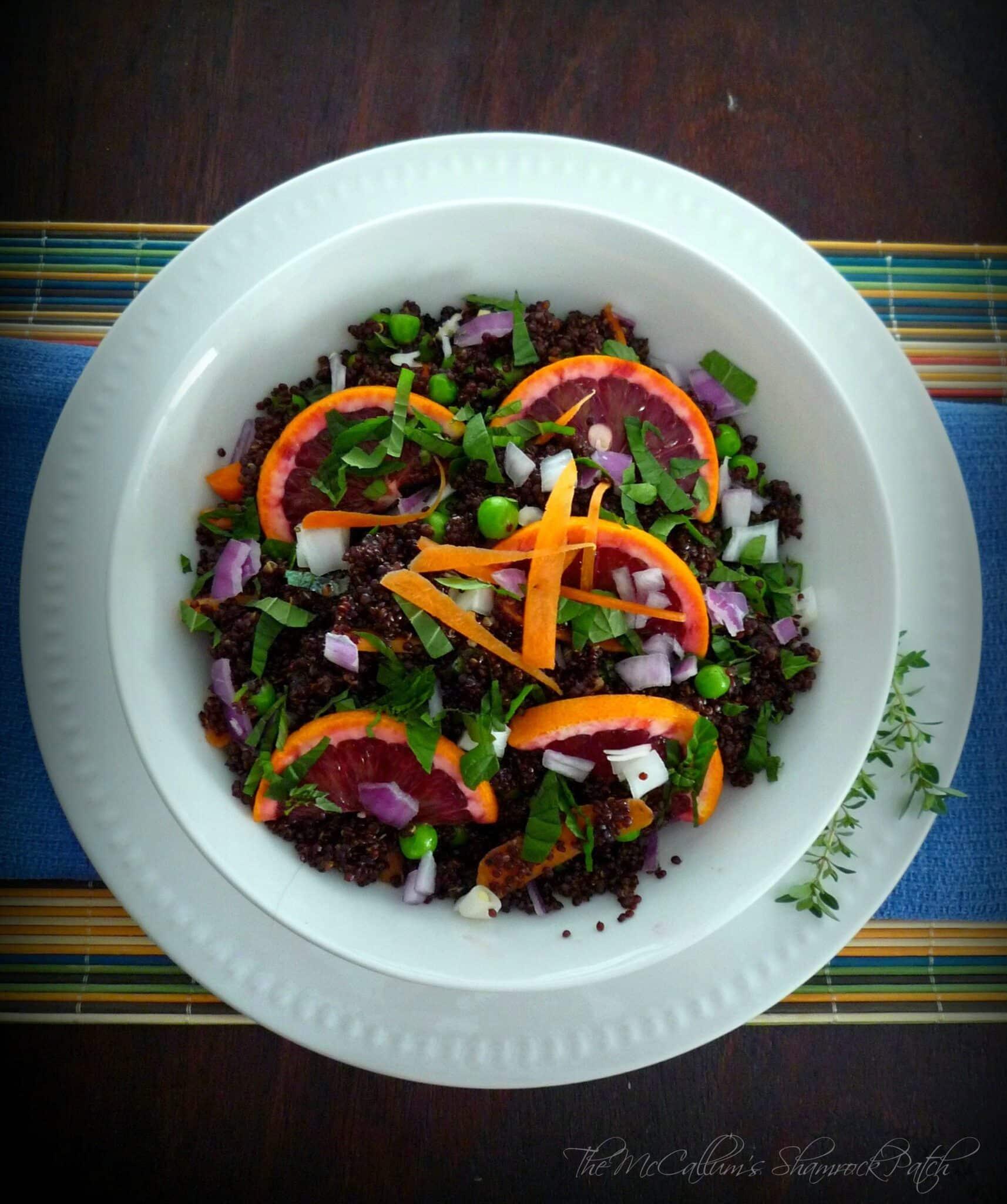 Red Quinoa & Citrus Salad