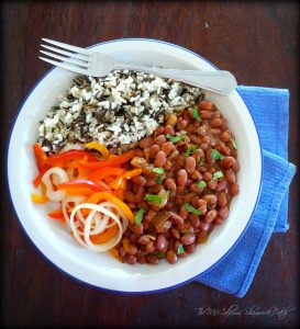 frijoles rojos con arroz - Red Beans with Rice