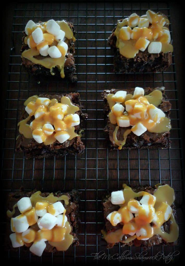 Marshmallow Caramel Brownies 1