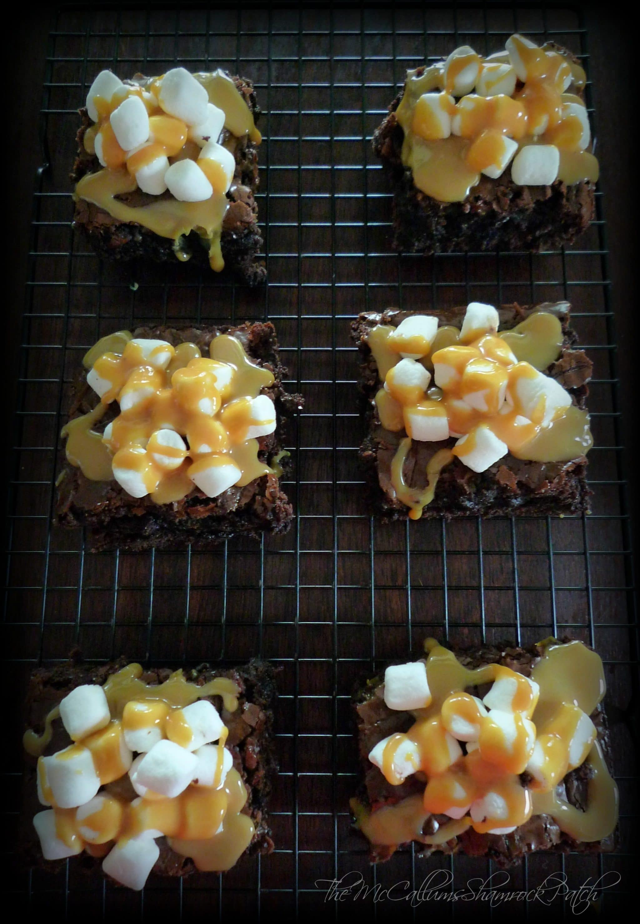 Marshmallow Caramel Brownies 1