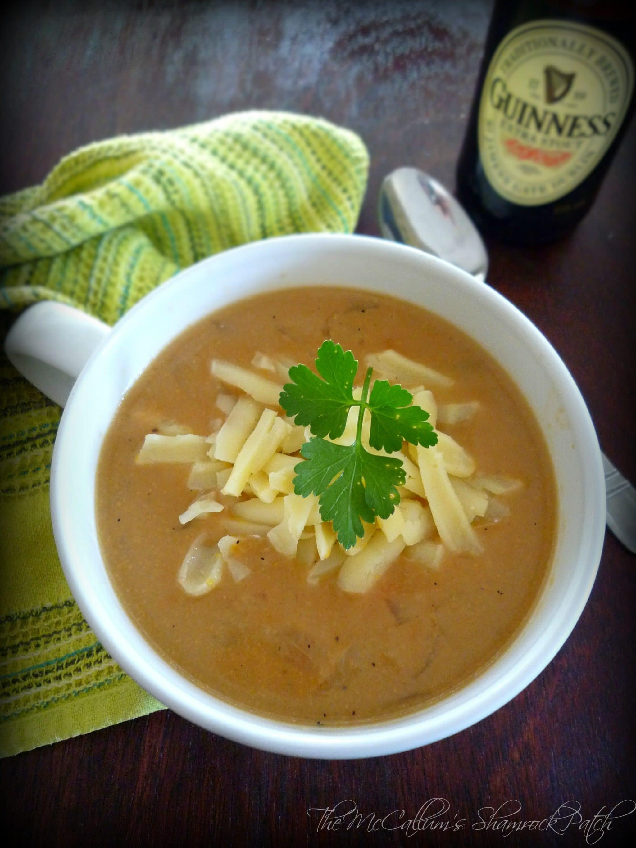 Irish Black & Tan Beer Cheese Soup