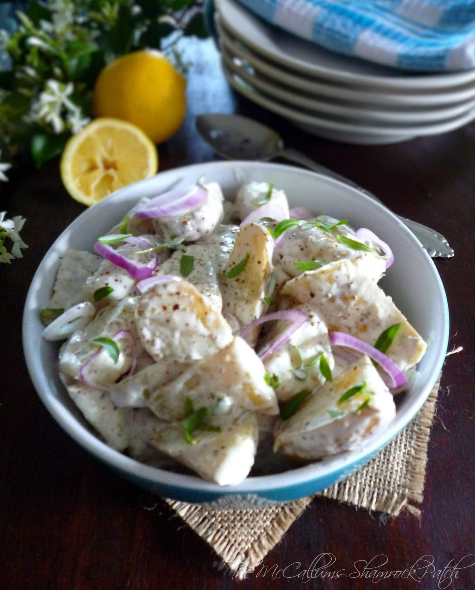Lemony Tarragon Fingerling Potato Salad