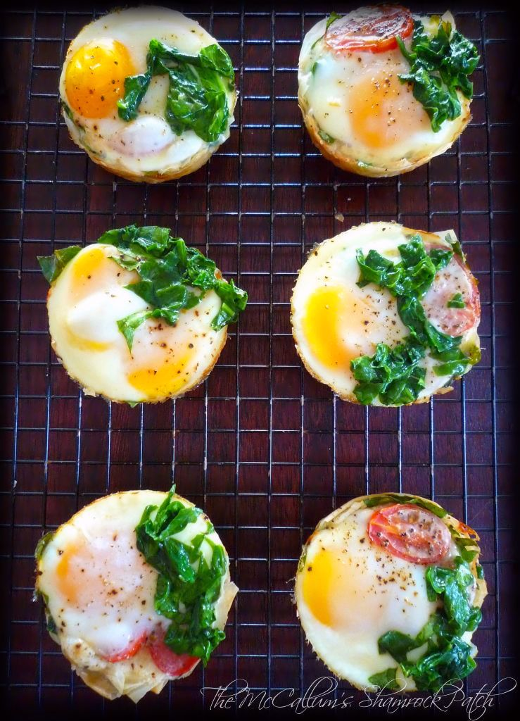 Egg Cups with Spinach and White Cheddar