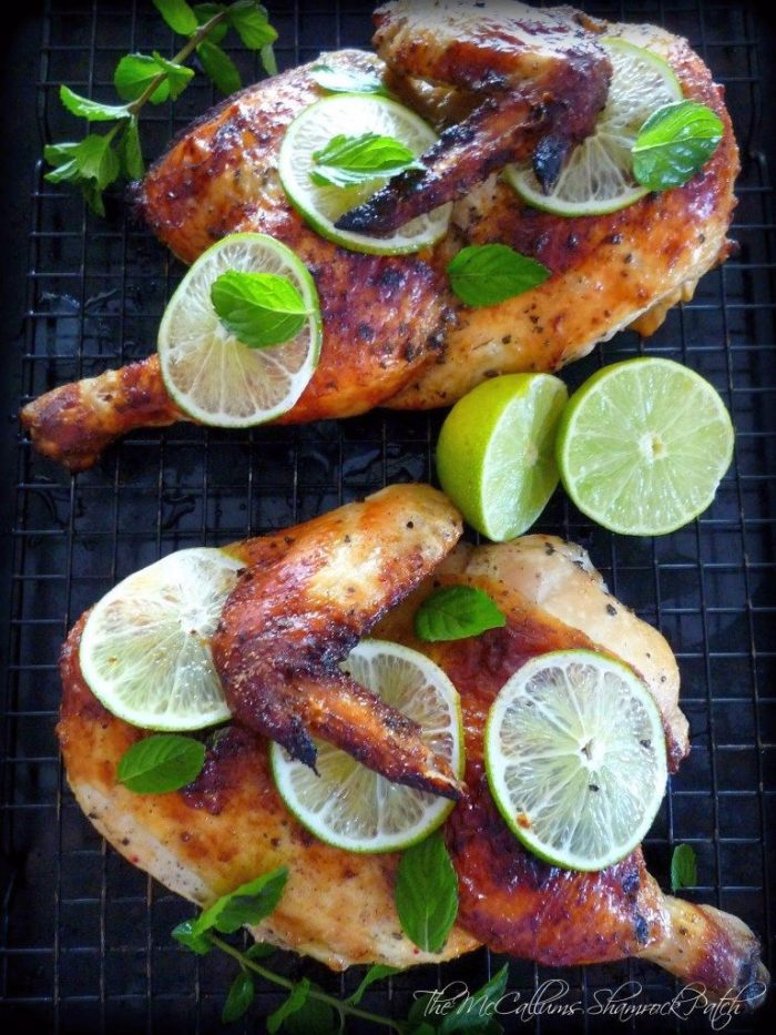 Roasted Mojito Chicken will be the juiciest, most delicious, roasted chicken recipe you'll ever make. It will have your family raving about your Roasted Chicken for weeks, combining a white rum Mojito Marinade with fresh mint and sliced limes, simply seasoned with cumin, kosher salt, and freshly ground pepper