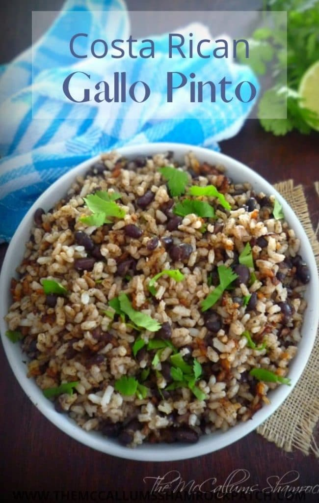 Costa Rican Gallo Pinto is a famous and favorite traditional dish of gorgeous Costa Rica. It's a dish so versatile to the locals and can be served at almost any meal in Costa Rica, often eaten and enjoyed with fried eggs for breakfast or brunch or as a side dish along with seasoned meat, fried plantains, and salad for dinner.