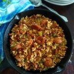 Creole Red beans and rice is a traditional dish of Louisiana cuisine, made in native homes with red beans, Andouille sausage, Tasso ham, and the Holy Trinity.