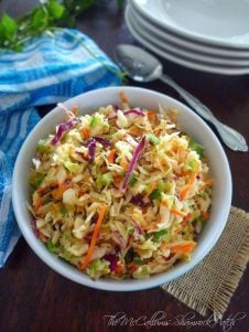 Southern Style Coleslaw will be a family favorite among your friends and guest at family BBQ's as well as Summer Potlucks. Combining crunchy red and green cabbage, sweet pickle relish, celery seeds, grated carrots and crisp celery with simple spices and a mayo base for the perfect Southern-style side dish to complement your favorite Summer dishes.