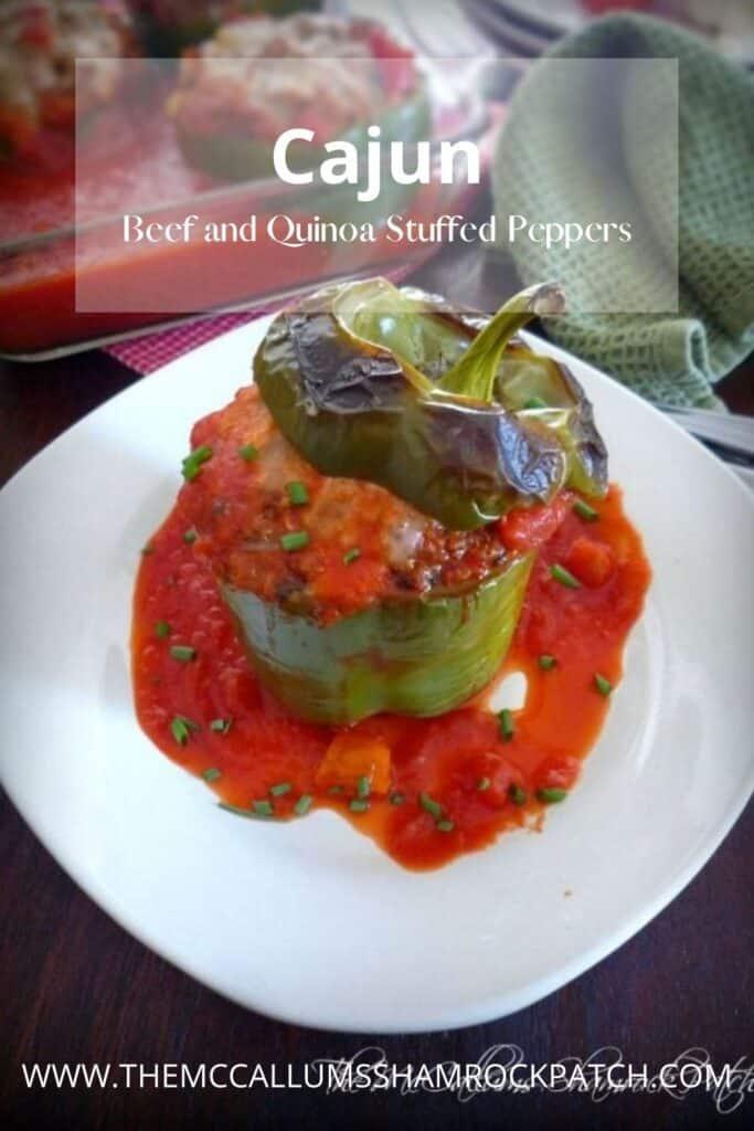 Cajun Beef and Quinoa Stuffed Peppers