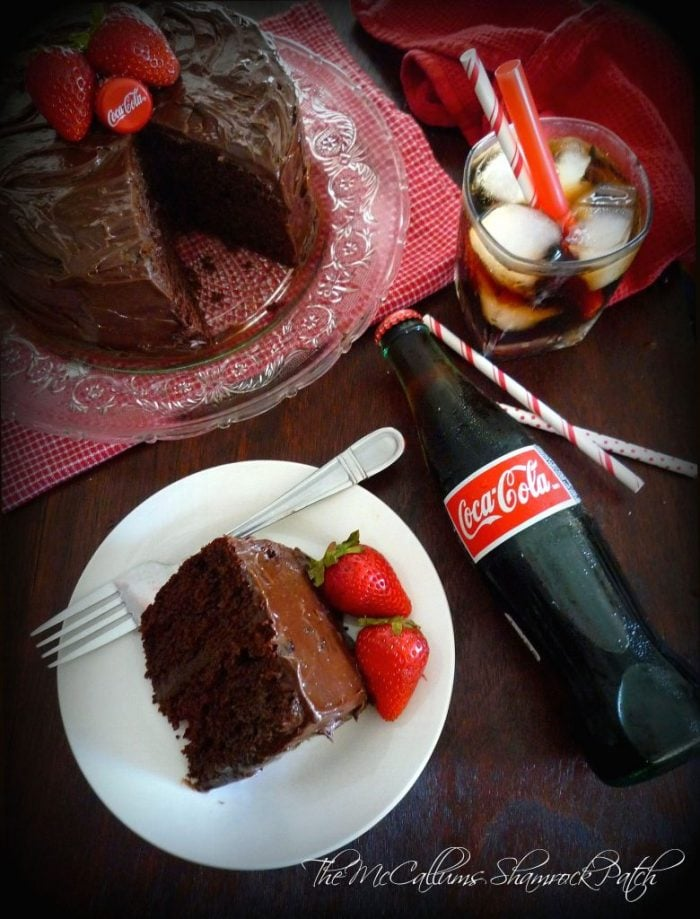 my simplified,  so easy it shouldn't even be called a recipe, modern rendition of a beloved Southern recipe for Coka~Cola Cake, using everyone's favorite tasty beverage, rich, decadent chocolate, fluffy miniature marshmallows, and creamy dark chocolate icing.