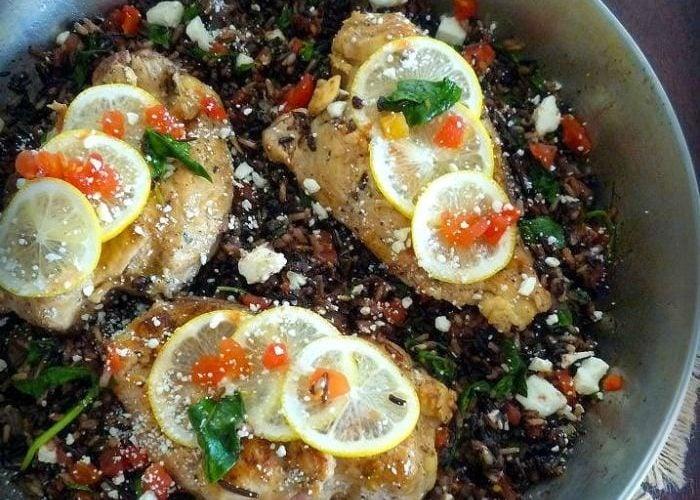 Mediterranean Chicken and Wild Rice
