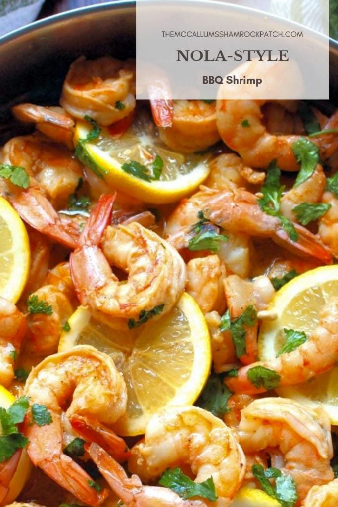 NOLA-Style BBQ Shrimp is the one Louisiana dish you don't want to miss; rich in taste from being cooked in a deliciously sinful, spiked buttery sauce of Worcestershire sauce, real unsalted butter, a splash of hot sauce, lemon juice, minced garlic, and herbs and spices for that decadent flavor you have come to expect from and NOLA-style recipe.