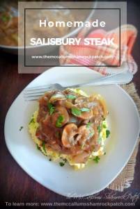 Homemade Salisbury Steak is the melt in your mouth, tender, comfort food from many childhood pasts. I can promise you it will never leave you feeling disappointed. This deliciously, rustic, comfort food has all the flavor you have looked for over the years. It's so simple and easy to make. You'll be sitting down to one of your favorite childhood dinners in no time flat with minimal clean-up time involved.