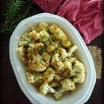 Roasted Cauliflower with Parmesan and Rosemary is delicious, the healthyside dish made from freshly roasted cauliflower, grapeseed oil, grated parmesan cheese, fresh rosemary, and other herbs and spices.
