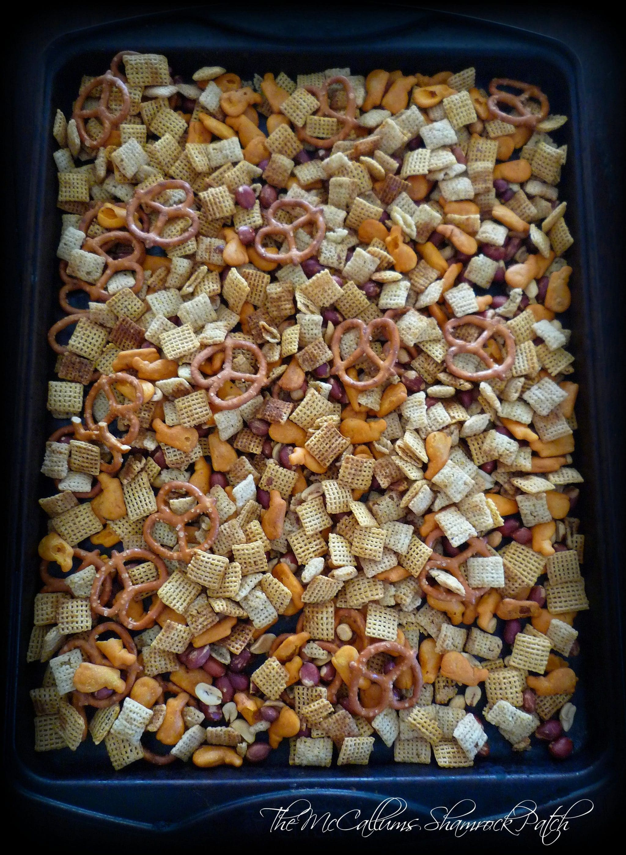 Baked Cajun-Style Party Chex Mix