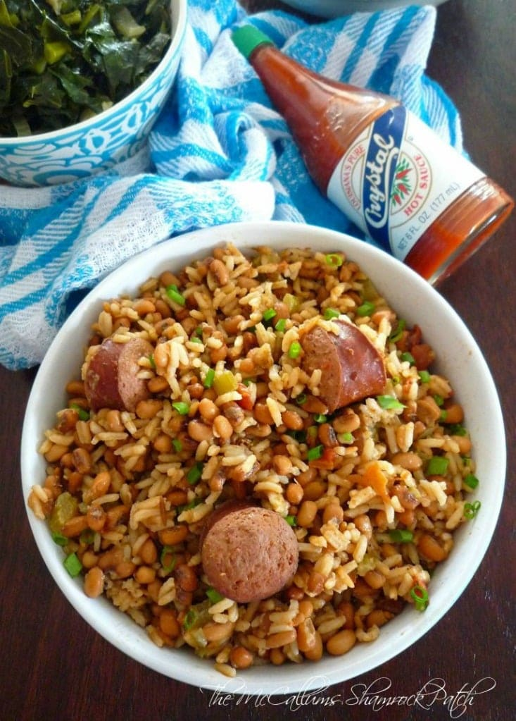 Traditionally Hoppin' John was considered to be a Low Country menu item before becoming popular and spreading to the entire Southern region. Hoppin' John is said to have evolved from the rice and bean mixtures that were made and consumed of enslaved West Africans en route to America. Hoppin' John has also been traced to similar menu items in West Africa, such as the Senegalese dish, thieves niebe.