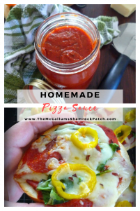 Homemade Pizza Sauce and Pizza Bagels are a perfectly quick way to have a delicious Pizza snack or lunch for the kids or adults ready in no time flat.