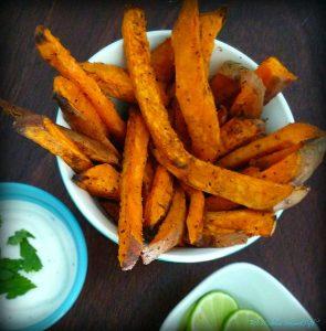 Cilantro Lime Baked Sweet Potato Fries