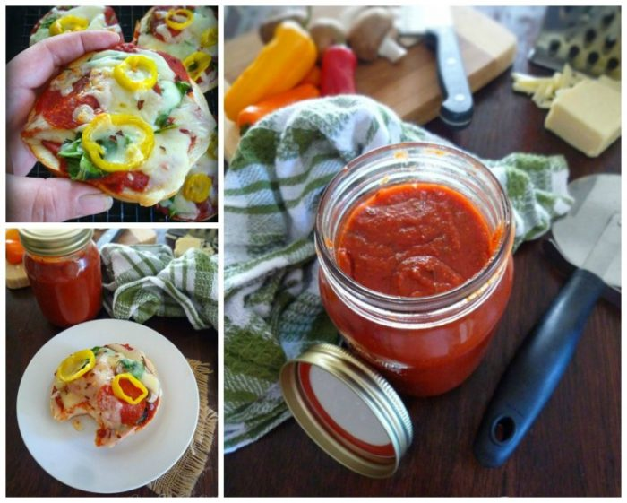 Homemade Pizza Sauce and Pizza Bagels are a perfectly quick way to have a delicious Pizza snack or lunch for the kids or even adults, ready in no time flat.