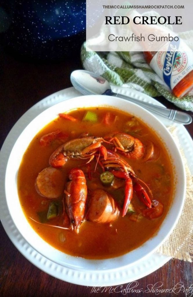 Gumbo is one of the oldest beloved Creole and Cajun cuisines in Louisiana, Gumbo is as much of a cultural symbol of as the bayou or jazz music heard playing in the French Quarters of New Orléans. There are many variations of family recipes for Gumbo across the state of Louisiana; my Red Creole Crawfish Gumbo is one of my favorite Gumbos; made with Andouille sausage, Louisiana crawfish, onions, green bell peppers, celery, garlic, fresh okra, and seasoned perfectly with Creole spices.